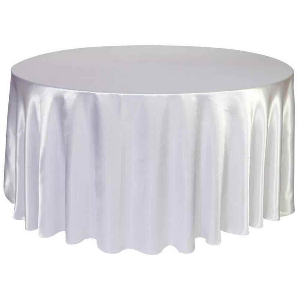 10 pc สีขาวรอบสี่เหลี่ยมผืนผ้าผ้าปูโต๊ะผ้าซาตินสำหรับห้องครัวห้องรับประทานอาหาร Tabletop งานแต่งงานอาหารค่ำวันเกิด Party Decor วงกลมรูปไข่ตาราง-ใน ผ้าปูโต๊ะ จาก บ้านและสวน บน   2