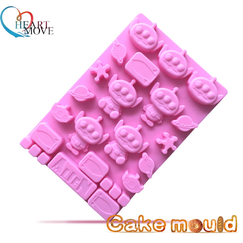 HEARTMOVE DIY Cartoon Chocolate Cake Mold Frozen Icecream Maker Candy Fondant Pudding Mould Ice Cube Baking Tools 9499