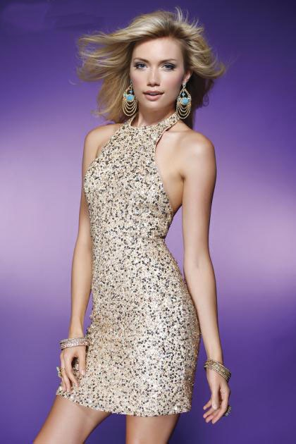 High Quality Gold Sequin Cocktail Dress Promotion-Shop for High ...
