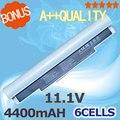 Blanco 4400 mah batería portátil aa-aa-pb6nc6e pb6nc6w aa-pb8nc6b aa-pb8nc8b aa-ba43-00189a pl8nc6w para samsung nc10 nc20 n110 n120