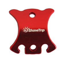ShineTrip 5 pcs Aluminum Tortoise Shell Shape Camping Tents Windstopper Rope Adjuster Buckle Buckle Tool S