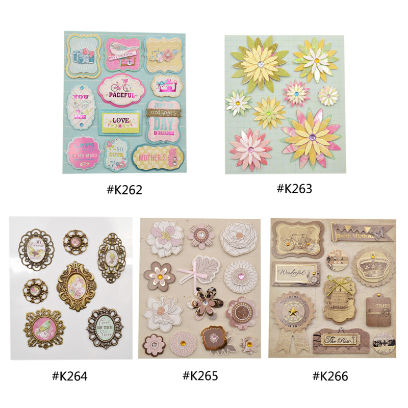 She Love European Deocrative DIY Adhesive Stickers Photo Album Scrapbooking Decoration Kids Craft
