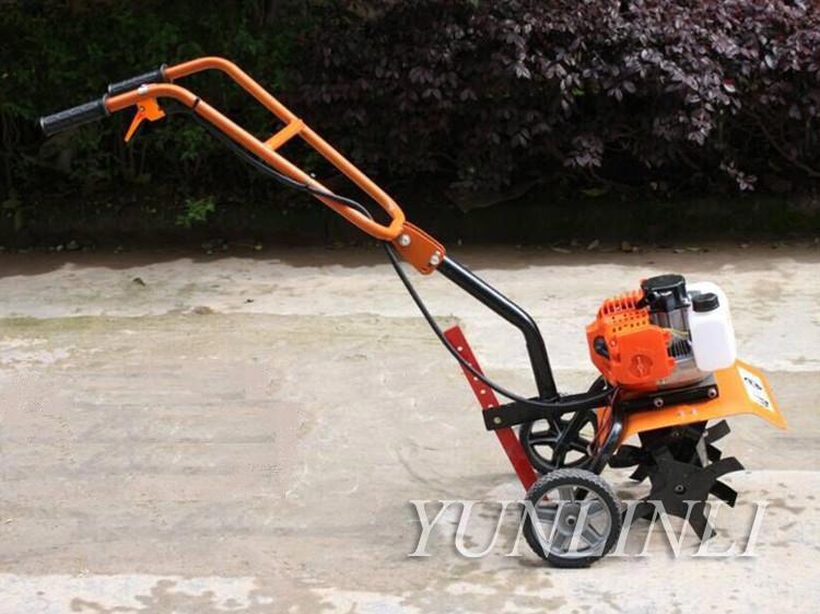 Tools : Small Tillage Machine agricultural tool Tiller Garden Gasoline Engine Walking Rotary Soil Loosening farm Equipment