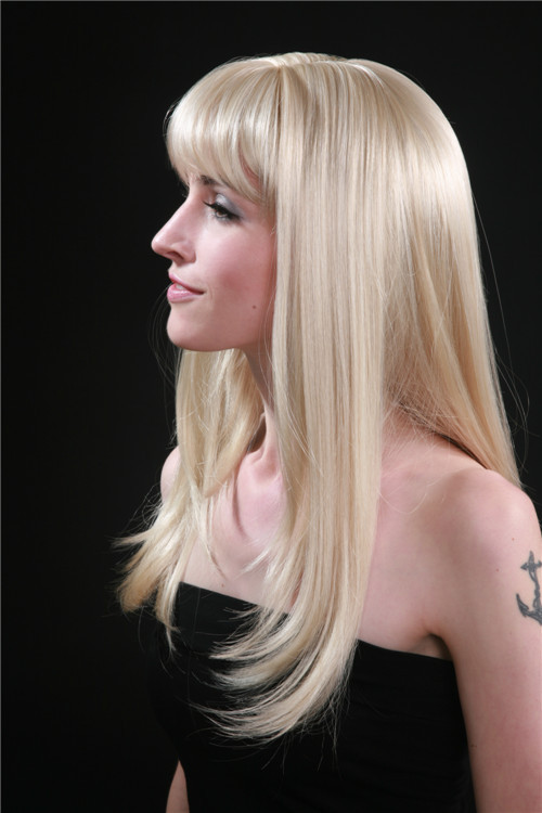 Free Shipping Long Platinum Blonde Hair With Straight