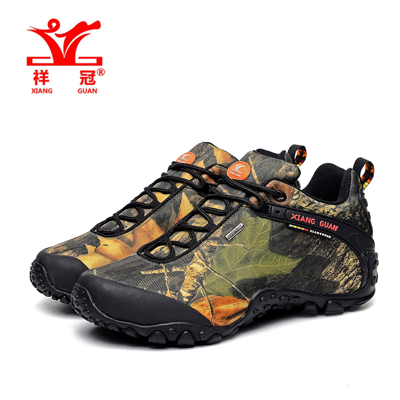 2017 XIANGGUAN man outdoor waterproof canvas hiking shoes low boots Anti skid Wear resistant breathable fish climbing snekaers