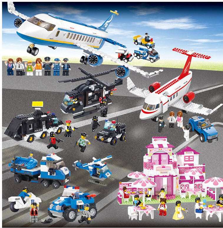 2017  Airbus Military Helicopter Model Airplane Building Blocks Sets City Airport Bricks Toys children educational toys decool 2114 building blocks military uh 60 black hawk plane airplane helicopter bricks blocks children toys compatible with lego