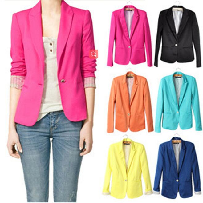 NEW blazer font b women b font suit A Grain Of Small Suit Buckle Tailored font