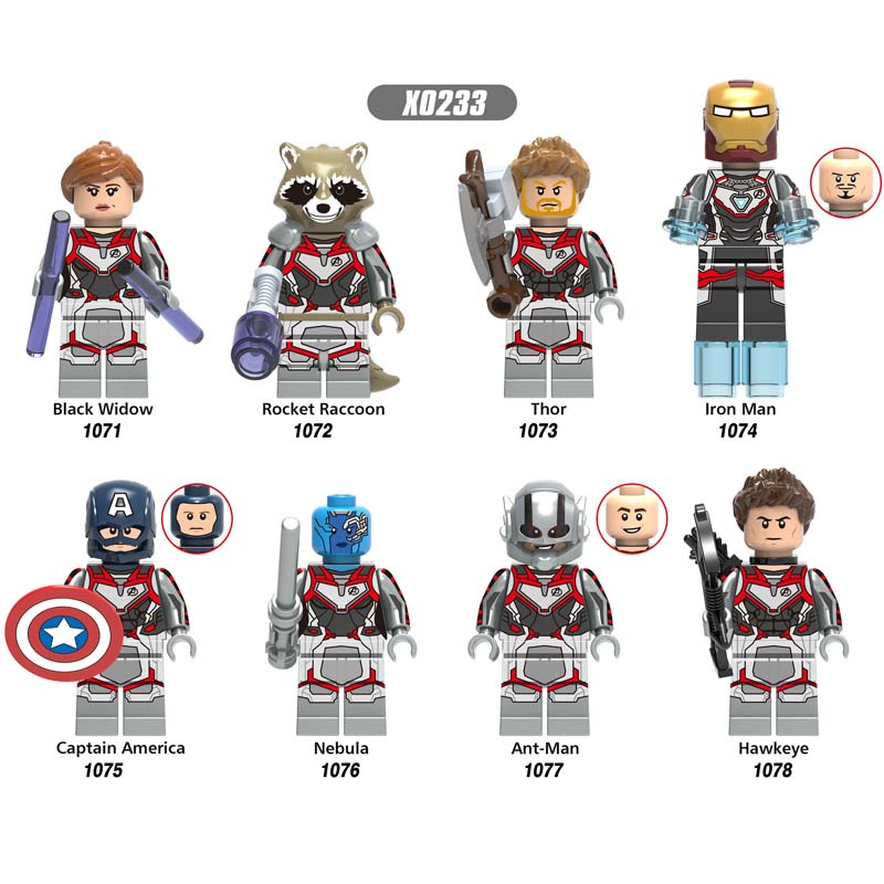 50pcs Super Heroes Marvel Avengers 4 Endgame Thor IronMan Hawkeye Black Widow War Machine building block