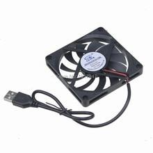 2Pcs Lot Gdstime 5V USB Connector 80mm x 10mm PC Fan Cooler Heatsink Exhaust