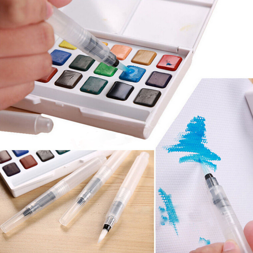 3PCS Refillable Drawing Painting Illustration Multi Function Pilot Water Brush Ink Pen for Water Color Calligraphy Stationery
