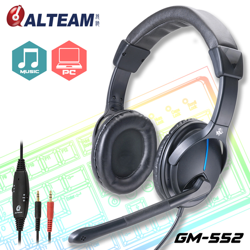 Best Wired Dual 3.5 Stereo Handsfree Volume Controller Pro PC Computer Game Gamer Gaming Headset Headphones with Microphone