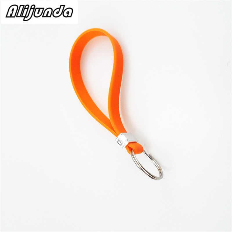 New silicone key long wristband bracelet key spoon portable key chain for  Volkswagen vw POLO Tiguan Passat CC Golf GTI R20 R36