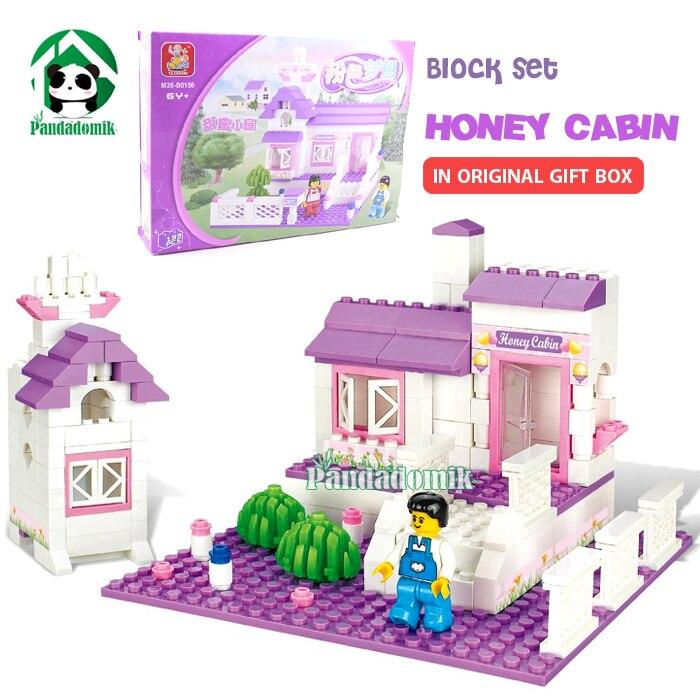 Original Gift Box Building Blocks Honey House Girls Friends Series Learning Education Toys Bricks Compatible - Pandadomik store