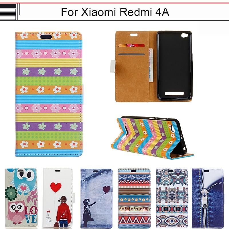 EiiMoo Fonda Capa Per Xiaomi Redmi 4A Caso Del Fumetto di Vibrazione Del Raccoglitore di Lusso Cover in pelle Per Xioami Redmi 4A 4 Un Caso Della Copertura Del Telefono 5.0