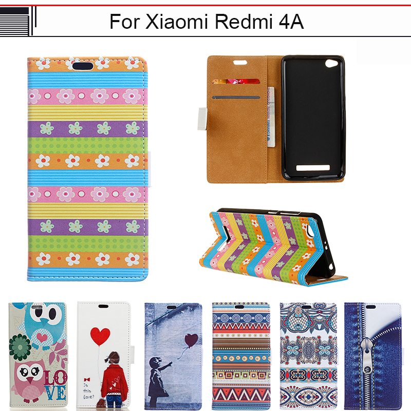 EiiMoo Funda Capa For Xiaomi Redmi 4A Case Cartoon Luxury Wallet Flip Leather Cover For Xioami Redmi 4A 4 A Phone Cover Case 5.0
