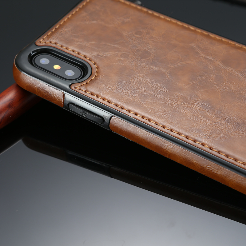 pretty nice 99343 1292c Vintage Leather Iphone X PU Leather Case Magnetic Absorption Back Cover For  Iphone 9 8 7 6 6S Plus 5 XS XR XS Max