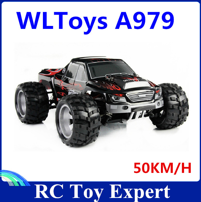 Free shipping Fast Speed A979 1:18 Full Scale Remote Control Car RC Monster Truck 4WD RC Car With Shock System 50KM/H big remote control big size kingtoy fun 1 28 multifuncional rc farm trailer tractor truck free shipping