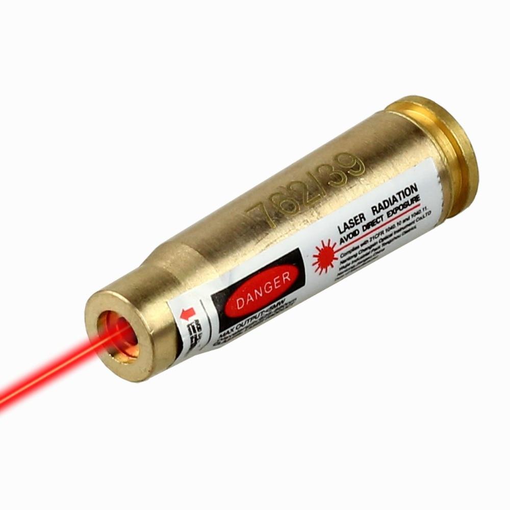 7.62x39 Red Laser Sight Foro Sighter Boresighter Avvistamento Caliber per la Caccia