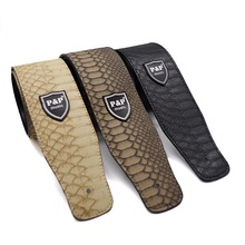 Free shipping PU leather guitar straps, quality python lines strap