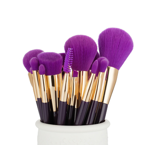Image 3 - Jessup Brushes 15pcs Purple/Darkviolet Makeup Brushes Set Powder Foundation Eyeshadow Eyeliner Lip Contour Concealer Smudge