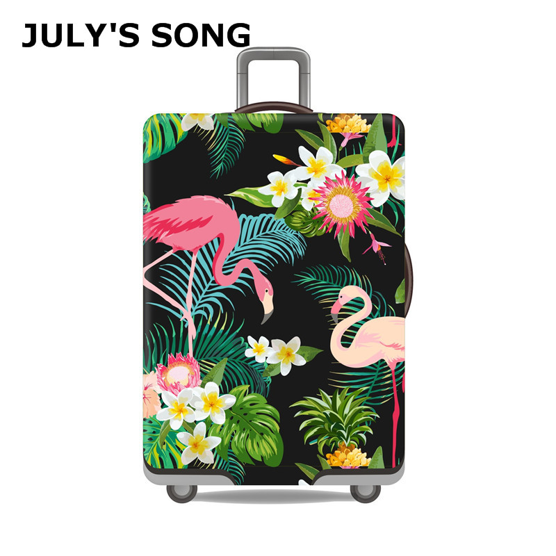 Flamingo Style Luggage Cover Elastic Thickest Suitcase Protective Cover For 19''-32'' Trunk Case Suitcase Cover Luggage Case
