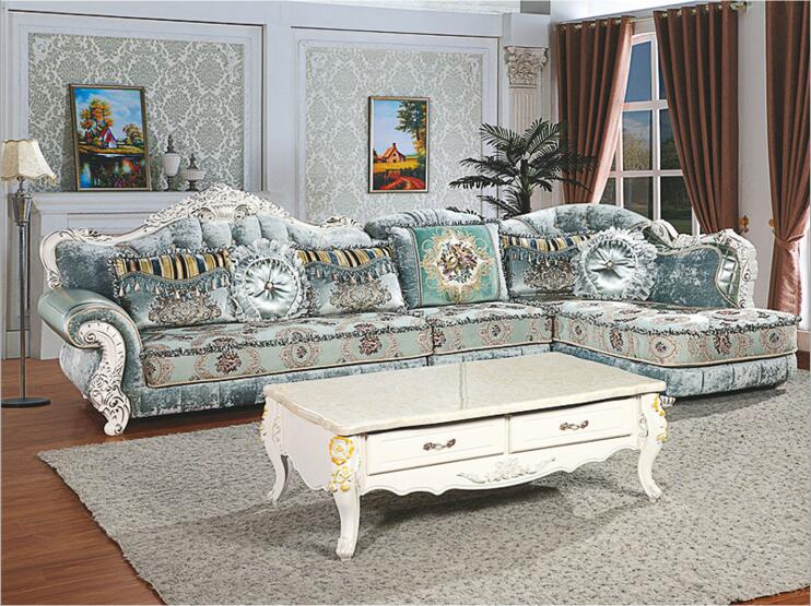 где купить living room furniture modern fabric sofa European sectional sofa set a1268 по лучшей цене