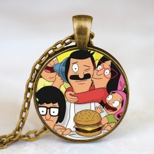 New Steampunk Drama Bobs Burgers Pendant Necklace doctor who 1pcs/lot brass silver chain mens 2016 women men boy toy girl gift