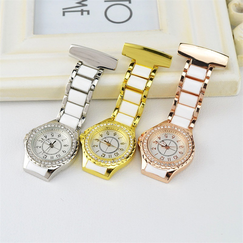 Wholesale 100pcs High Quality Nurse Watch Doctor Watch Custom Logo Free Shipping UPS DHL Crystal Decor