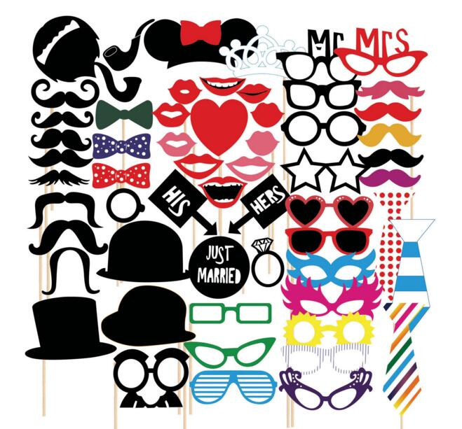 31pcs mustache on a stick wedding party photo booth props photobooth new 58pcs mustache on a stick wedding party photo booth props photobooth funny masks gifts for solutioingenieria Images