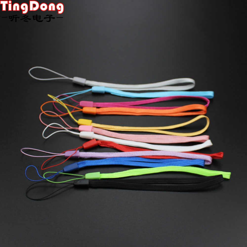 TingDong Cordón de correa de mano de Nylon de moda para la cámara del teléfono móvil USB MP4 PSP correas de Color al azar