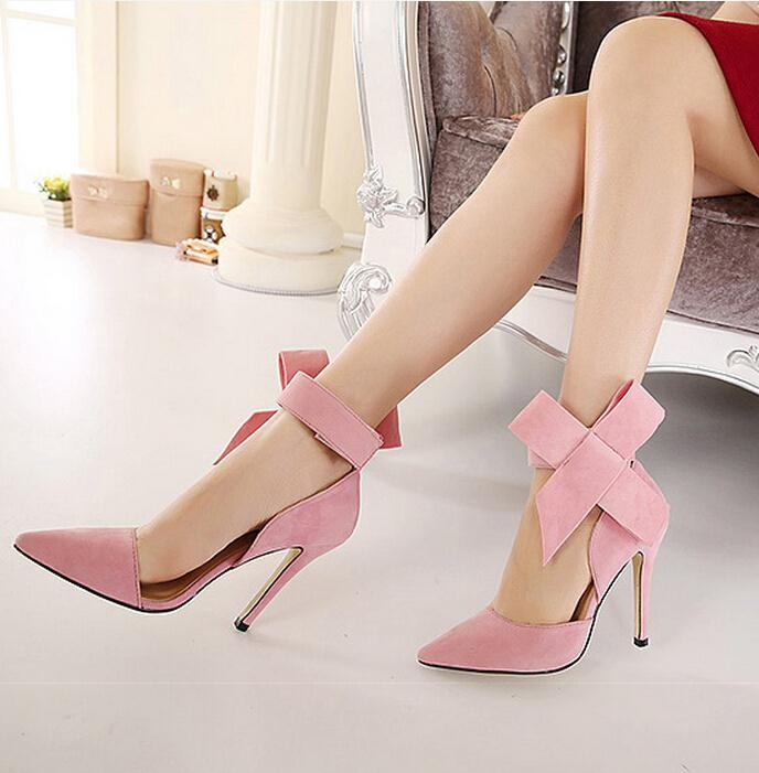 Aliexpress.com : Buy Plus Size Shoes Women Big Bow Tie Pumps 2015 ...