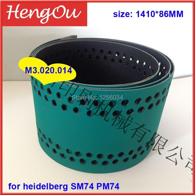 1 piece M3.020.014 feeder delivery belt for heidelberg machine SM74, belt for PM74 heidelberg M3.020.014/01