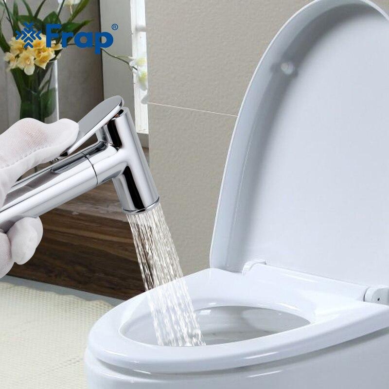 FRAP Bidets laiton bidet toilette eau froide et chaude mélangeur main pulvérisateur chrome salle de bains bidet robinet douche mousseline douche - 2