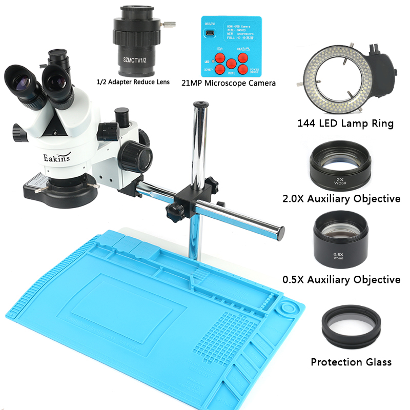 1080P 30MP HDMI USB C Mount Video Camera 3 5X 90X Simul Focal Continue Trinocular Microscope