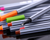 TOUCHNEW 24 36 Color Hook Line Fiber Marc Needle Watercolor Note Colour Pen Learning Supplies Stationery