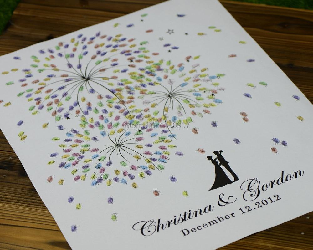 buy 50x70 cm firework prints wedding guest book wedding fingerprint tree guest