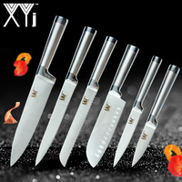 XYj New Year Kitchen Knives Paring Utility Santoku Chef Slicing Bread Stainless Steel Knives Comfortable Handle