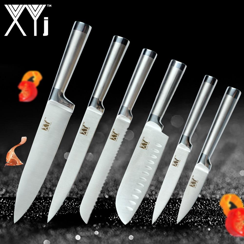 XYj Küche Messer Schäl Utility Santoku Chef Schneiden Brot Edelstahl Messer Neue Ankunft 2018 Küche Werkzeuge Zubehör