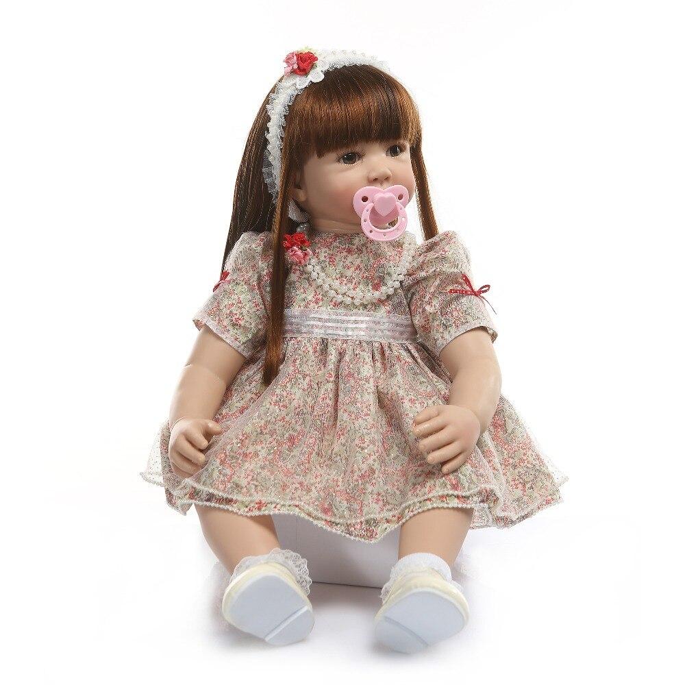 ビッグサイズ 60 センチメートルリボーン幼児ガールプリンセス手作り笑人形シリコーンビニール愛らしい Bonecas ガールキッド bebes リボーン 6 9Msurprice  グループ上の おもちゃ & ホビー からの 人形 の中 2
