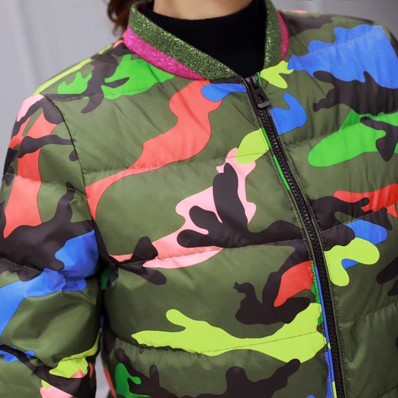 Fan 2 Filles Vestes Nouveau Femmes Femme Rembourré Manteau D'hiver Slim fan 1 Lcy909 Veste 2018 Color Mode Coton En Camouflage Parkas Courtes Ouatée vngBvdUP