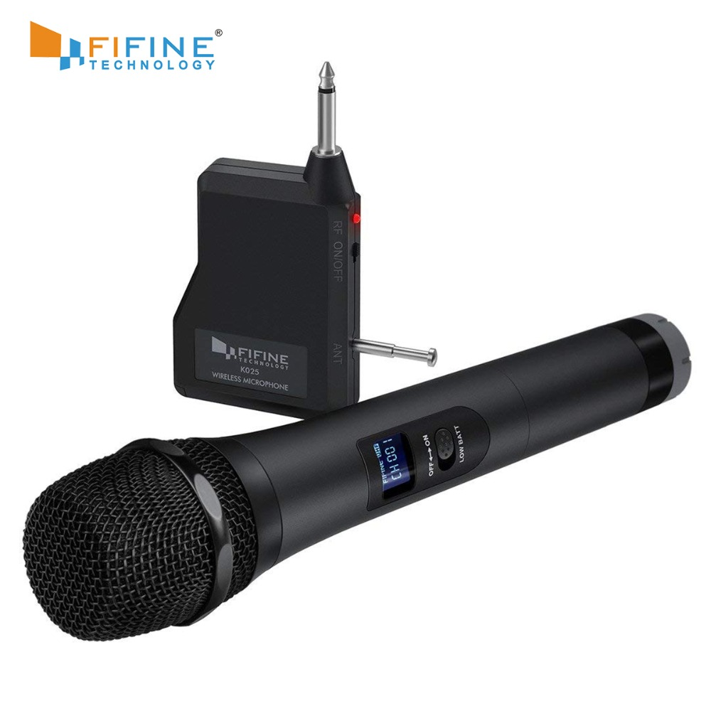 FIFINE UHF 20 Channels  Handheld Dynamic Microphone Wireless mic System for Karaoke & House Parties Over the Mixer,PA System etcFIFINE UHF 20 Channels  Handheld Dynamic Microphone Wireless mic System for Karaoke & House Parties Over the Mixer,PA System etc