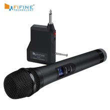 FIFINE UHF 20 kanal el dinamik mikrofon kablosuz mikrofon sistemi Karaoke ve ev partileri üzerinde karıştırıcı, PA sistemi vb