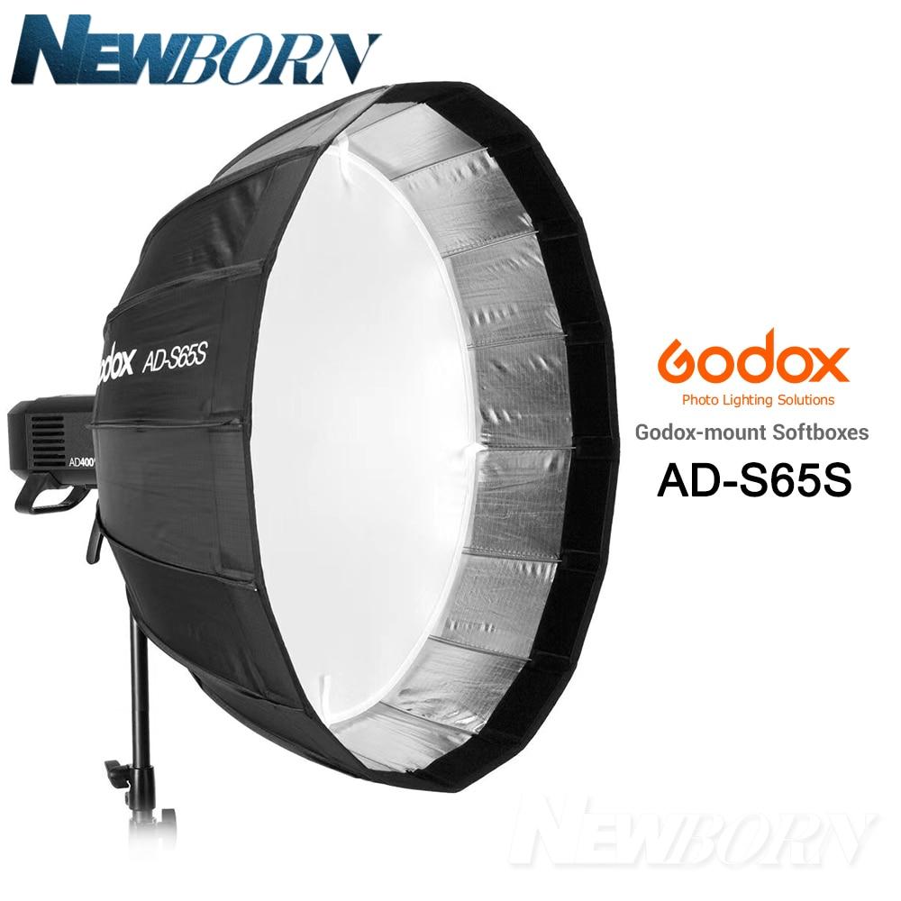 Godox 65 cm AD-S65S softbox argenté intégré avec grille nid d'abeille Godox monture softbox pour flash AD400PRO