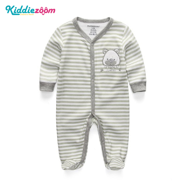 31218527a1b5 Newborn Baby Boy Girl Romper 100% Cotton Long Sleeve Unisex Infant Bebe Clothing  Cartoon Boy Clothes Bear Anti-Scratch Gloves