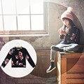 Ventas al por mayor Chic Baby Girl capa Tops cremallera niño sudadera niño de la chaqueta Floral prendas de vestir exteriores