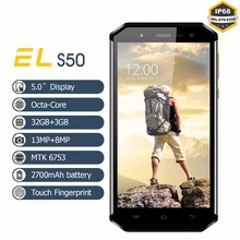 Waterproof Unlocked Mobile Phone 4G Lte Smartphone 5 0 HD Original EL S50 Octa Core 3GB