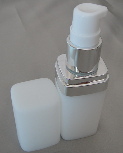 50 pcs 15 ml pressionando quadrado garrafa locao frascos de plastico branco cosmeticos protetor solar recarregaveis