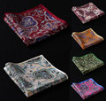 HN02 Paisley Handkerchief 100% Natural Silk Satin Mens Hanky Fashion Classic Wedding Party Pocket Square