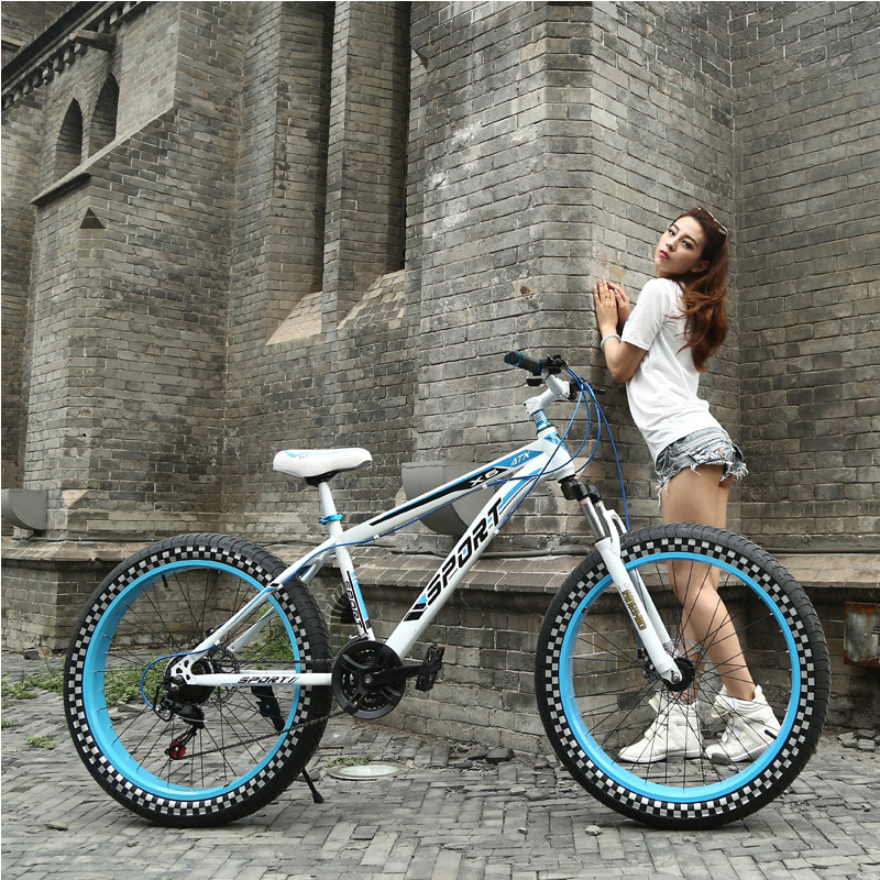 New Snowmobile ATV Disc Brakes Speed Bike 4.0 Ultra Wide Tires Shock Absorber Mountain Bike Men And Women