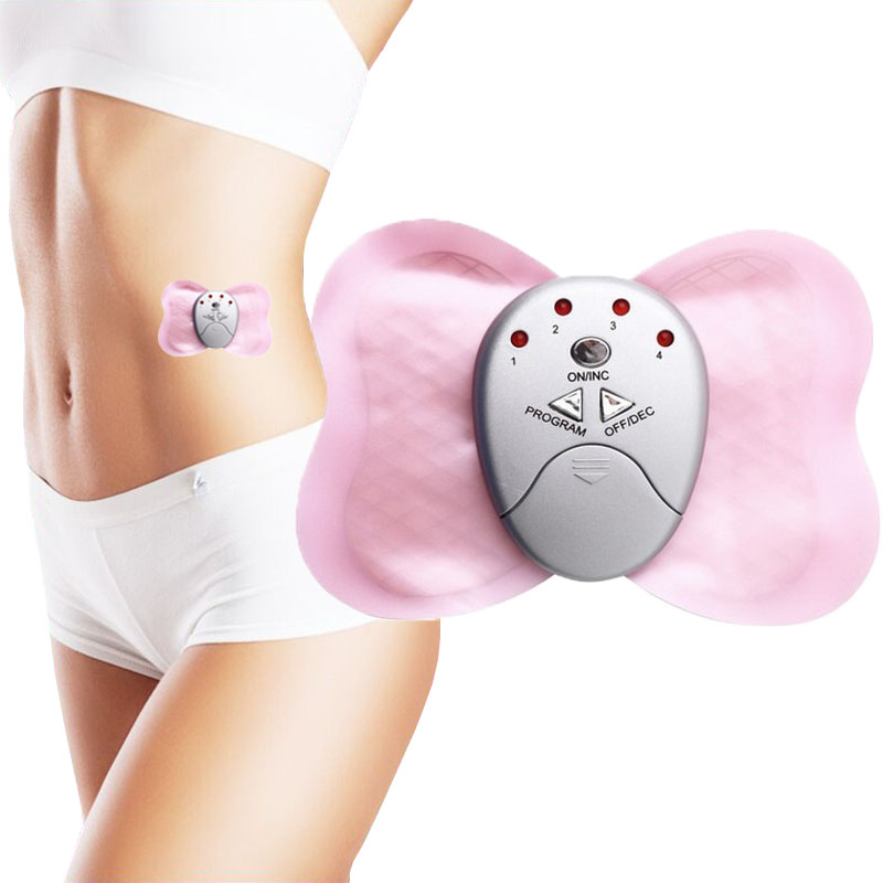 LNRRABC High Quality Random Color Electronic Butterfly Shape Slimming Muscle Relaxation Effective Body Massager solar battery powered butterfly random color